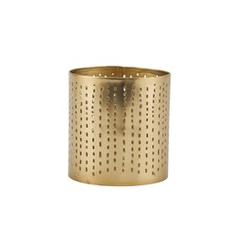 House Doctor Theelichthouder Wilma Perforated 8,5cm-gold