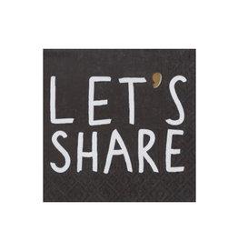Räder Servet 25x25cm-Let's share