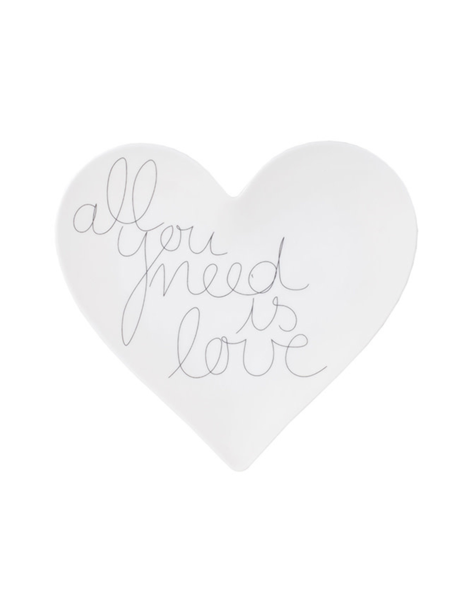 Räder Bord Heart All you need is love-white