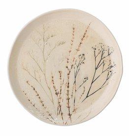 Bord Bea Flowers Stoneware 27,5cm-natural