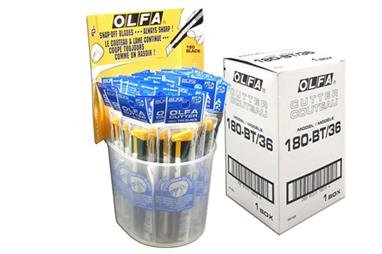 OLFA Standard Cutter Metal Body -36pcs 100-180-BT/36