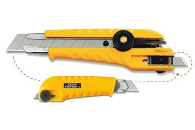 OLFA 2-Way Heavy-Duty Cutter with blade reapplication system 100-L-3