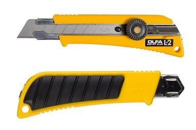 OLFA® Rubber Inset Grip Ratchet-Lock Utility Knife 100-L-2