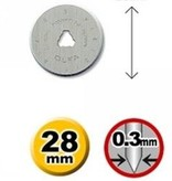 OLFA 28mm Wolfram Werkzeug Stahl Rotationsmesser 120-RB28-2