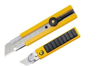 OLFA® Gummi Inset Griff Ratchet-Lock Utility Messer 100-H-1