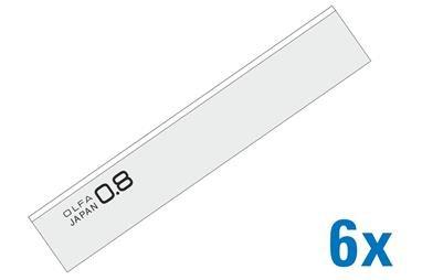 OLFA 100m Scraper Blades .8mm Thick 120-BS-08/6B