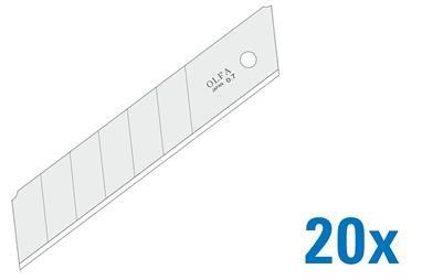 OLFA 25mm Silver Snap-Off Blades 120-HB-20B