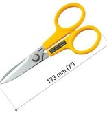 "OLFA Scissor, Stainless Steel Serrated Edge 7"" (173mm) 100-SCS-2"
