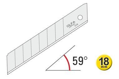 OLFA-Abbrechklingen 45º 120-LB-10