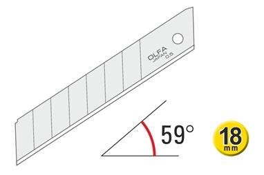 OLFA-Abbrechklingen 45º 120-LB-50