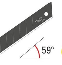 OLFA 18mm Silver Snap-Off Blades - Black - 50 pack