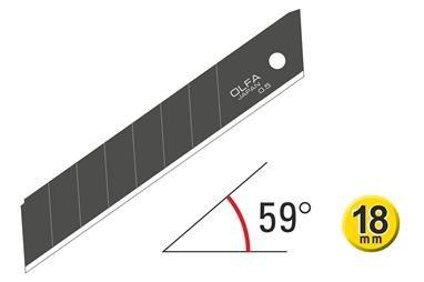OLFA 18mm Excel Schwarz Ultra-Sharp Snap-Off Blades 120-LBB-50