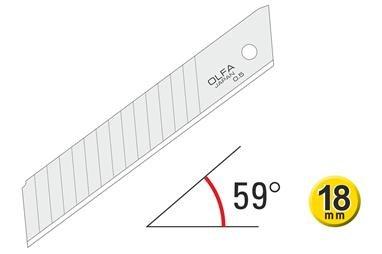 OLFA 18mm Doppelsegmente Hochleistungs-Snap-off Klinge 120-LBD-10