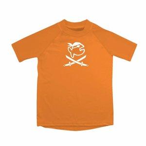 UV werend shirt korte mouw oranje kinderen - IQ-UV