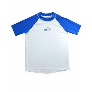 UV shirt kinderen korte mouw blauw/wit - IQ-UV