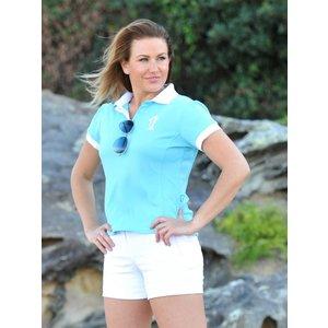 Dames UV-polo Blauw - Terry Rich Australia