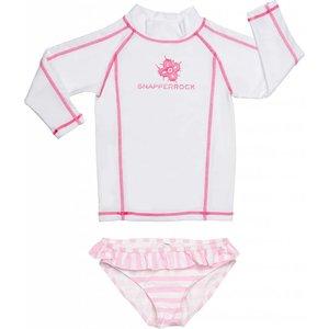 UV-Shirt & Bikini broek White & Pink - Snapper Rock