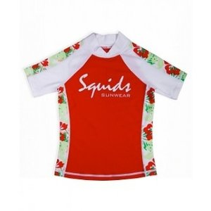 UV-Shirt Jungle Red - Squids Sunwear