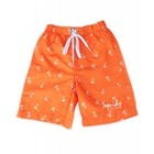 Surfshort Orange Anchor - Squids Sunwear