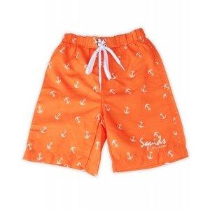Surfshort Orange Anchor - Squids Sunwear