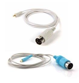 Technomed Câble Technomed pour aiguilles EMG concentriques, monofibres et monopolaires