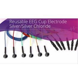 Technomed Electrode en coupelle EEG réutilisable, chlorure d'argent-argent (Ag-AgCl)