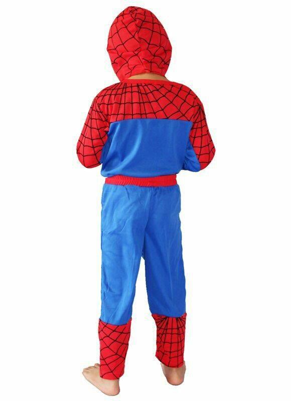 Spiderman verkleedpak - luxe maat 110/116, 116/122, 122/128