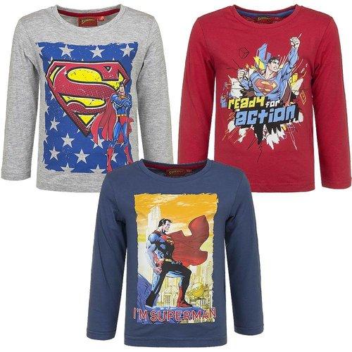 Superman Superman longsleeve - 3 kleuren maat 98, 104, 116, 128