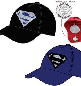 Superman Superman blauwe / zwarte cap - pet maat 56 - 58 cm
