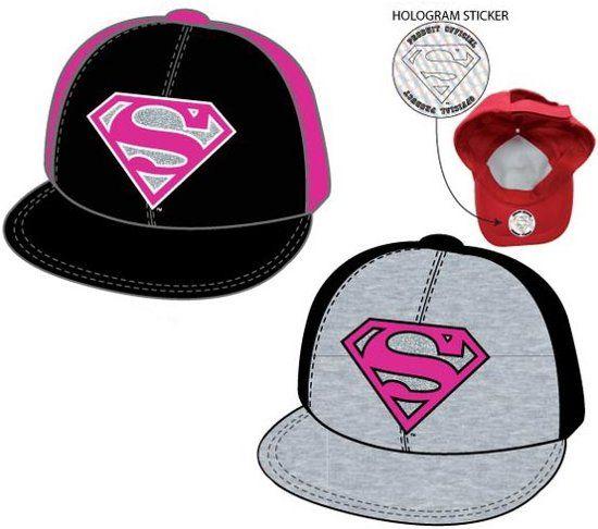 Superman Superman roze / zwarte cap maat 56 - 58 cm