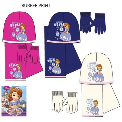 Disney Prinses Sofia winterset handschoenen, muts, sjaal - maat 52, 54