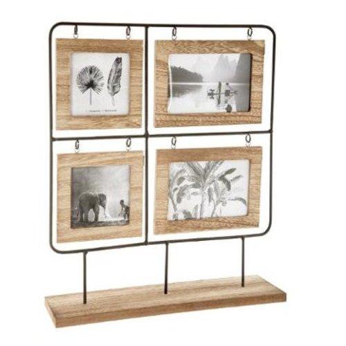 Atmosphera Créateur d'intérieur® Fotolijst hout/metaal 36x42 cm