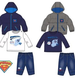 Superman Superman 3-delig set, winterjas, jeans, shirt