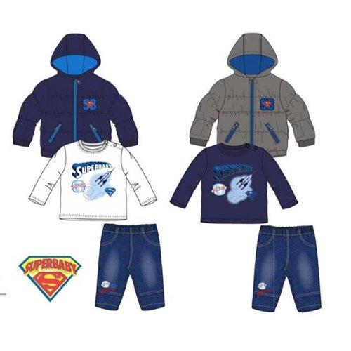 Superman Superman 3-delig set, winterjas, jeans, shirt 6, 12, 18, 24 maanden