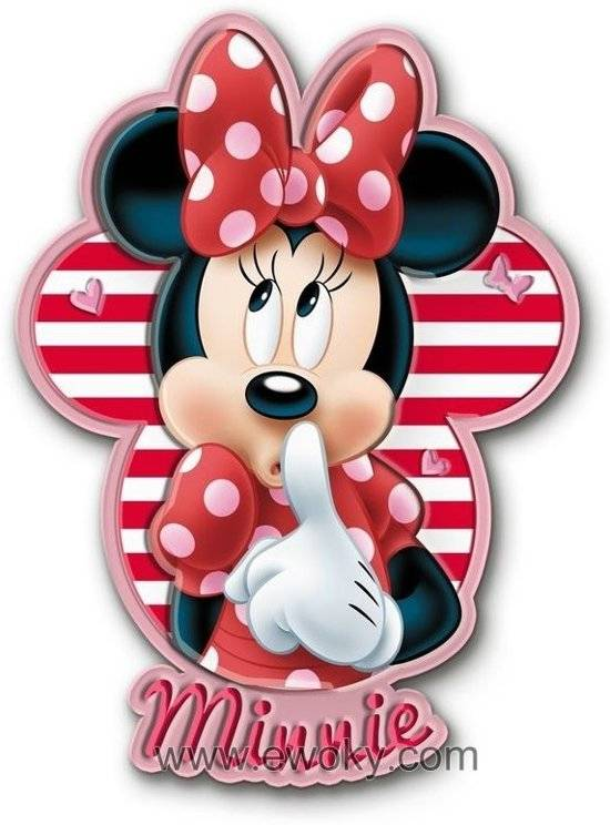 Disney Minnie Mouse led nachtlamp muursticker
