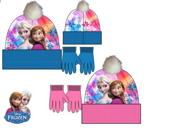Disney Frozen winterset  muts, handschoenen - maat 52, 54