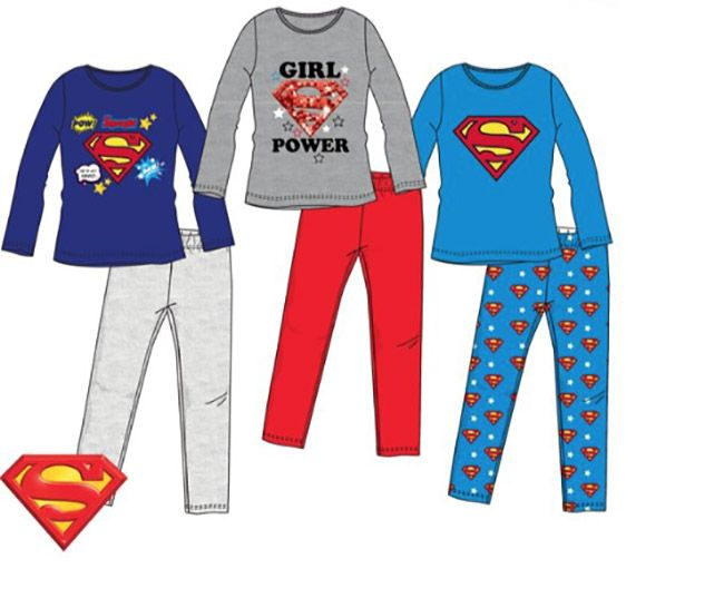Superman Superman meisjes pyjamaset 116, 128, 140, 152