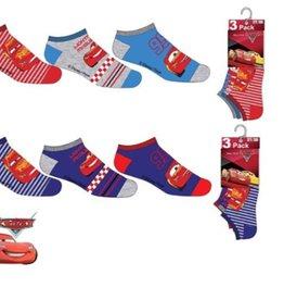 Disney Cars sokken - 3  paar  + gratis sleutelhanger