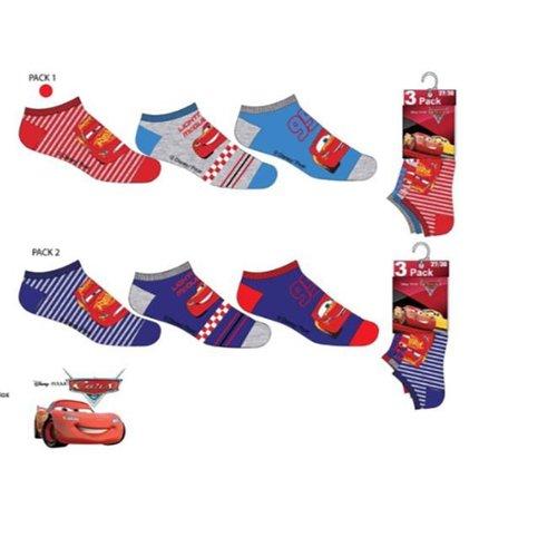 Cars  Cars sokken - 3  paar maat 23/26, 27/30, 31/34