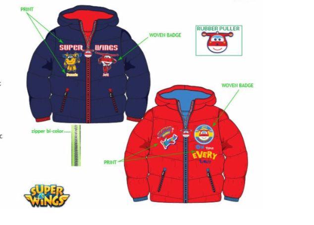 Disney Super Wings winterjas maat 98, 104, 110, 116