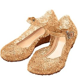 Elsa / Anna goudkleurige schoenen - Prinsessen schoenen