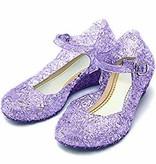 Prinsessen schoenen - paars+ gratis Frozen gymtas maat 30, 31, 32, 33, 34, 35