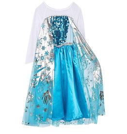 Frozen Elsa jurk - ijssterren + gratis Frozen tas