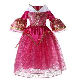 Prinsessenjurk - roze - gratis staf+kroon