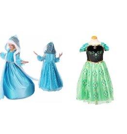 Frozen Anna en Elsa jurk + gratis Frozen gymtas EN etui