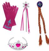 Frozen Elsa/Anna 4-delig accessoireset met lint