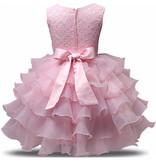 Prinsessenjurk - roze feestjurk maat 98, 104/110, 110/116, 122/128