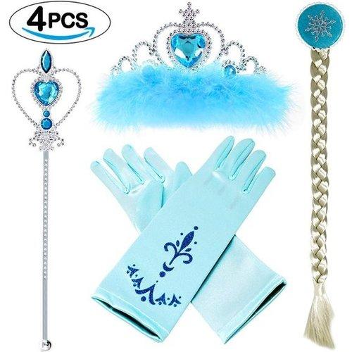 Frozen Elsa/Anna 4-delig accessoireset