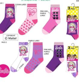 Barbie sokken - 3  paar