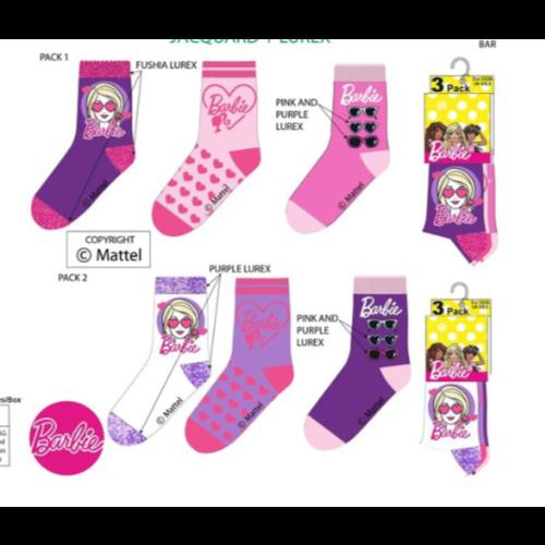 Barbie sokken - 6  paar 23/26,  27/30, 31/34